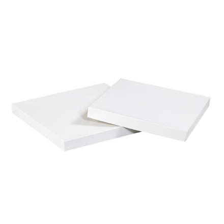 "19 x 12"" White Deluxe Gift Box Lids"