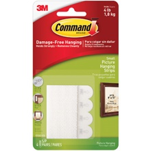 3M<span class='tm'>™</span> 17202 Command<span class='tm'>™</span> Picture Hanging Strips - Small