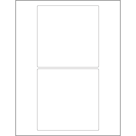"5 x 5"" White Rectangle Laser Labels"