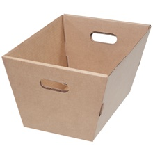 "19 <span class='fraction'>1/2</span> x 13 x 10"" Corrugated Tote"